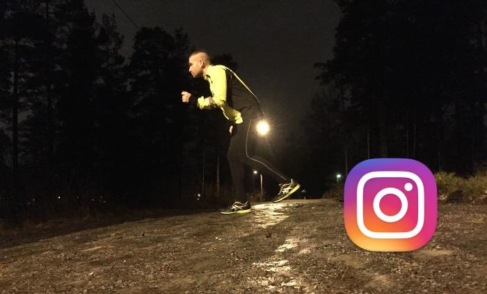 Hvis du legger ut mat, føtter og solnedganger på Instagram kan vel jeg legge uttreningsbilder?