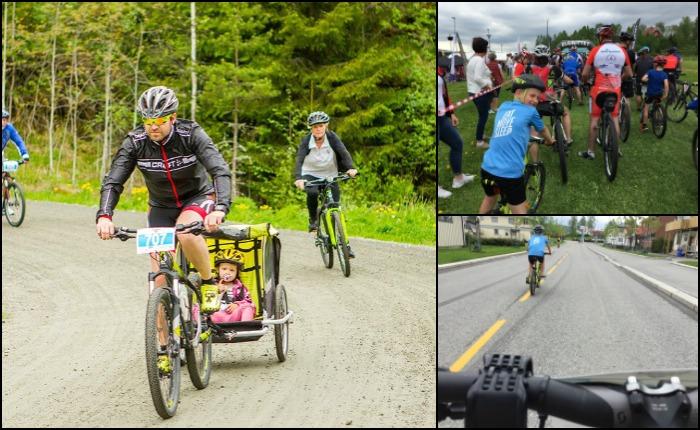 Elgrittet 10 kilometer med barna, terningkastsju