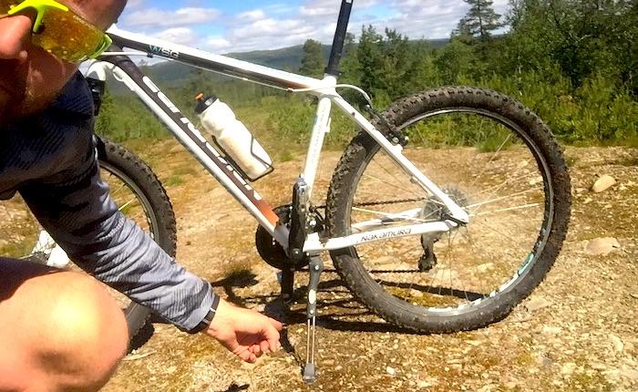 Hva? Trente du med sykkelstøtte påsykkelen?